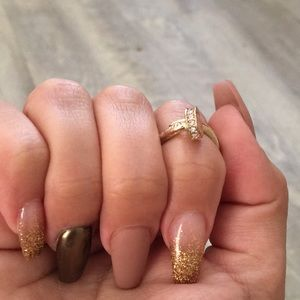 T&J Designs Jewelry - Gold Wrap Around Nail Ring